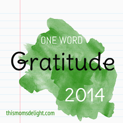 One Word 2014:  Gratitude