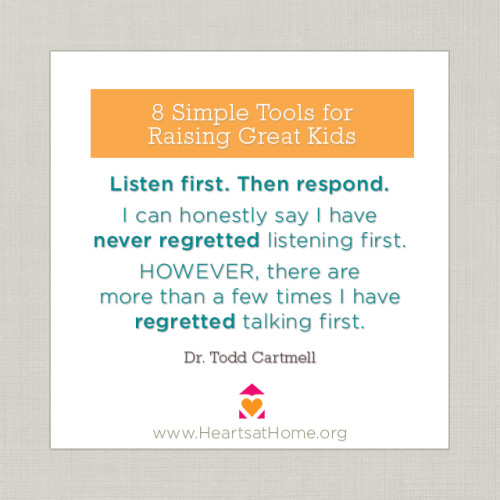 Listen first - 8 Simple Tools for Raising Great Kids - review via This Mom's Delight