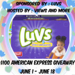 $100 American Express Giveaway #sharetheluv #luvs {ends 06/18}