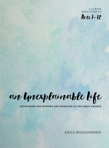 An Unexplainable Life by Erica Wiggenhorn {A Bible Study for Women} with #Giveaway
